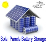 Solar panels and battery storage